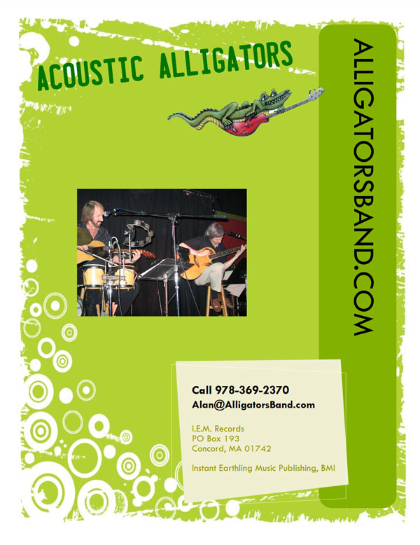 Acoustic Alligators Onesheet