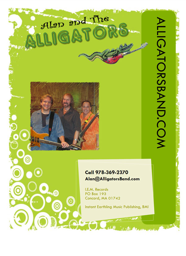 Alan and the Alligators Band Onesheet